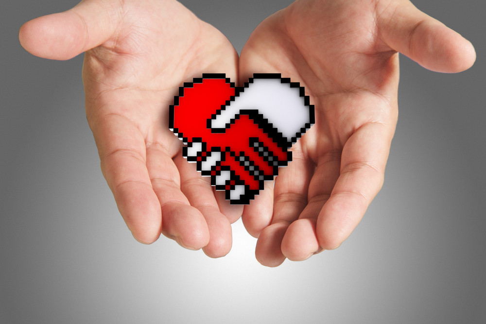Heart Shaped Symbol As Medical Technology,clipping Path