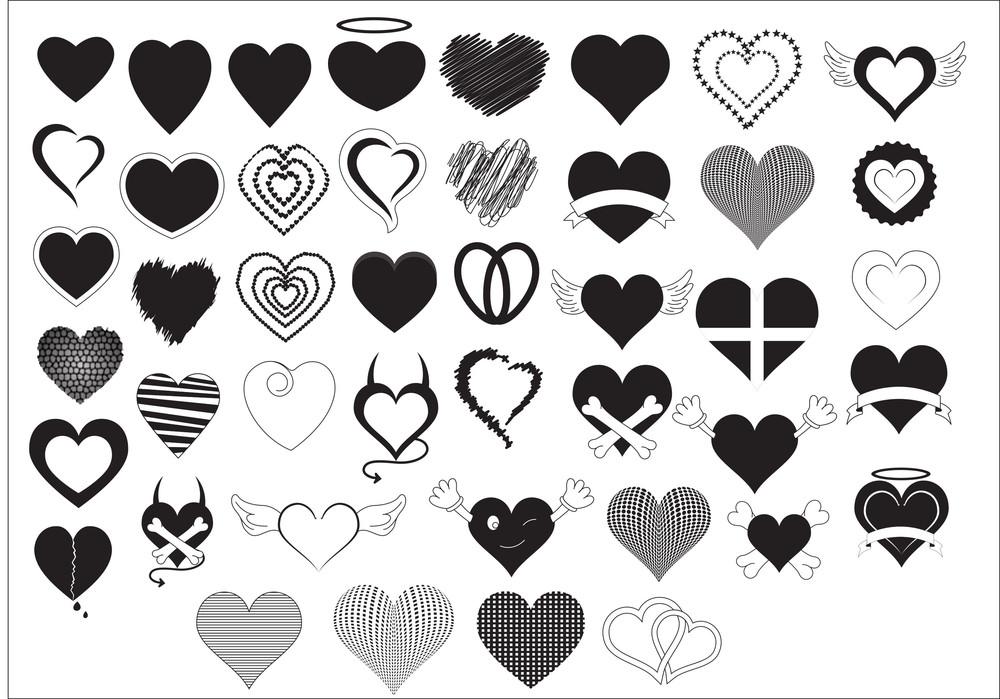 Heart Shapes Vectors