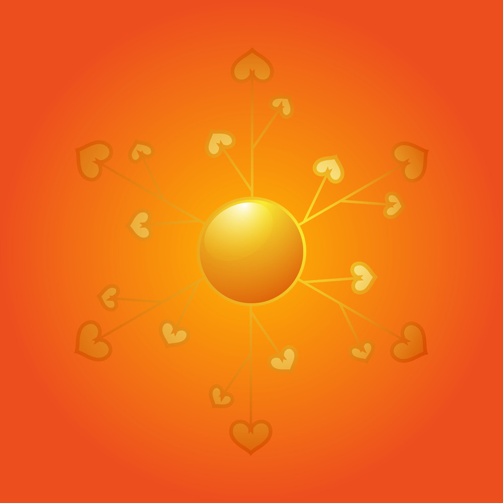 Heart Snowflake Sun Design
