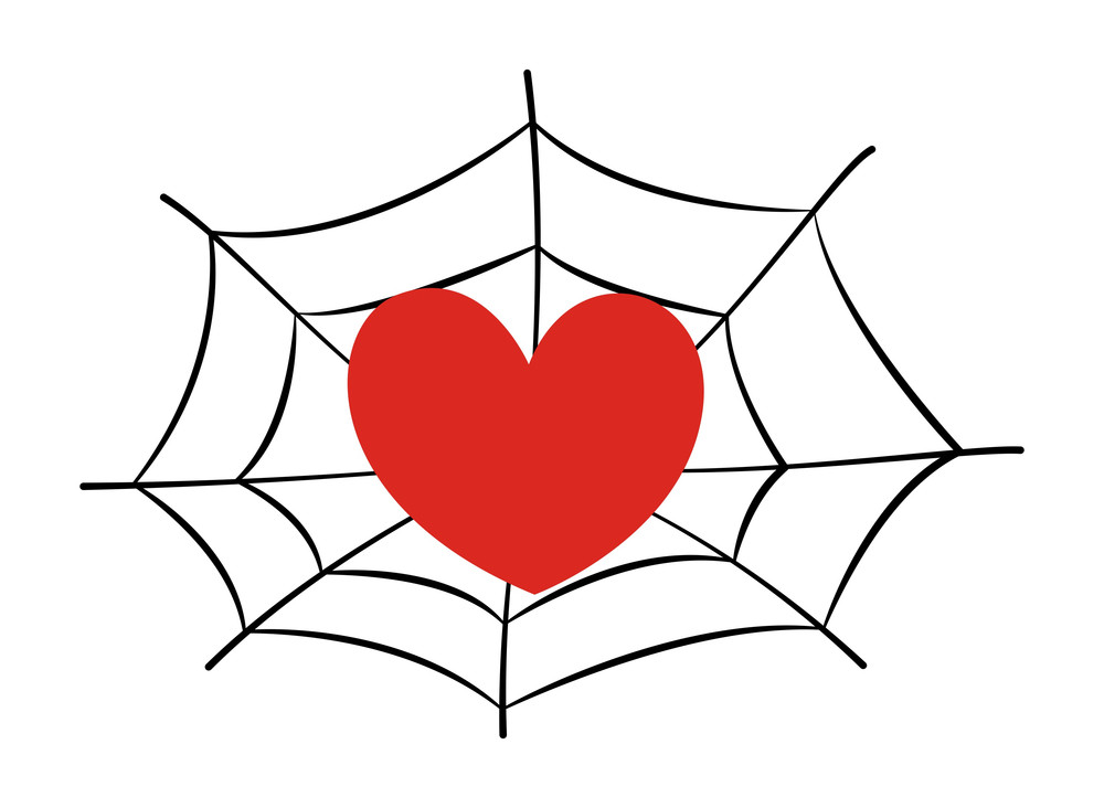 Heart Stucked In Spider Web