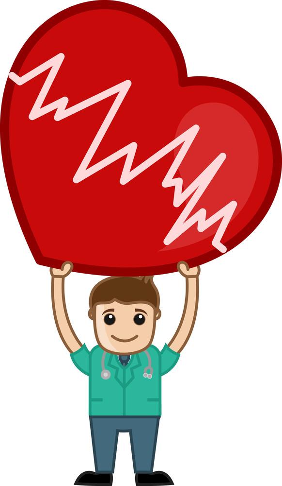 Heart Surgeon - Medical Cartoon Vector Character