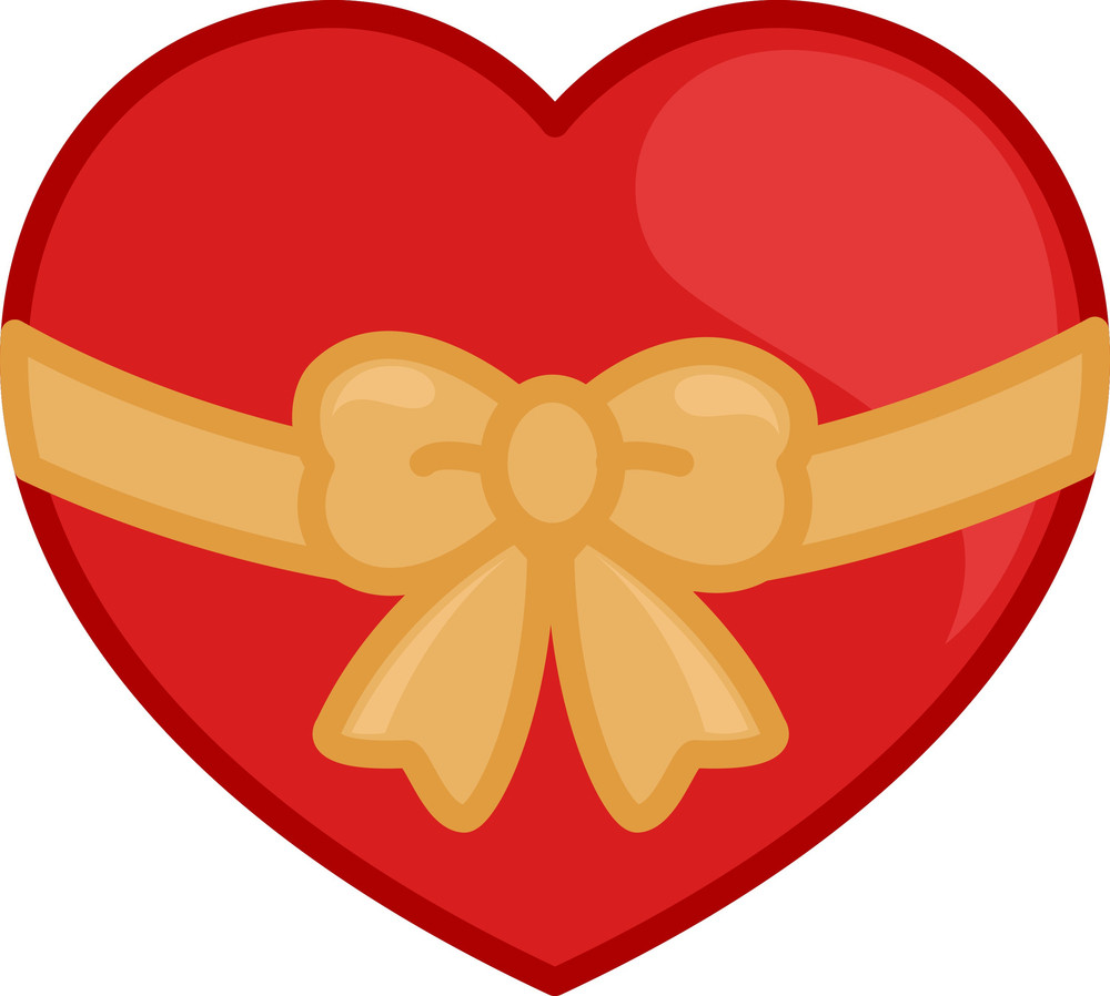 Heart Tied With A Ribbon Bow