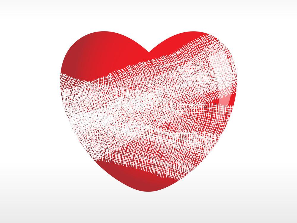 Heart Wrap In Plaster