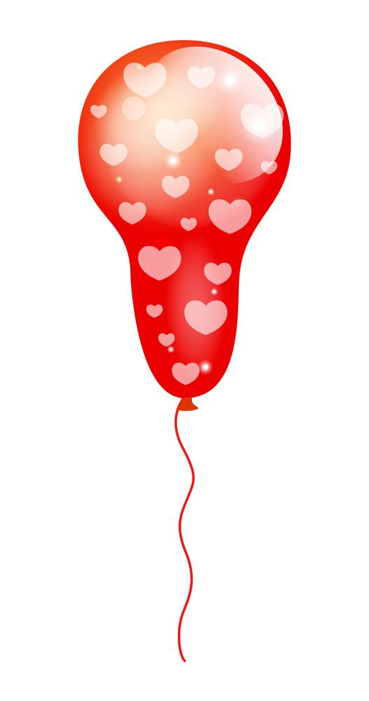 Hearts Pattern Balloon Design