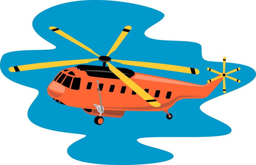 Helicopter Chopper Retro