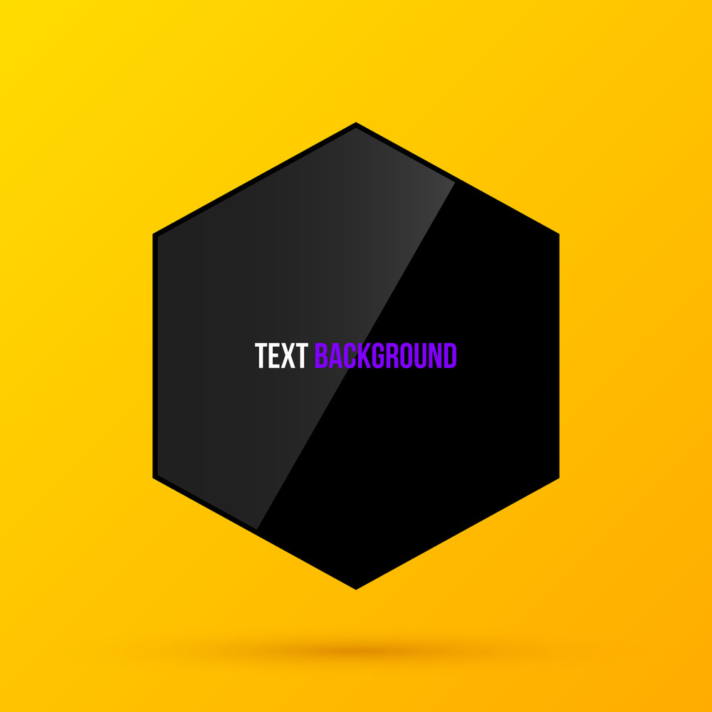 Hexagon Frame Template On Bright Yellow Background In Modern Corporate Style. Eps10