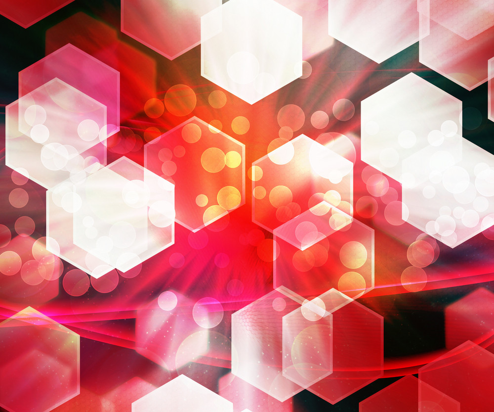Hexagon Red Texture Abstract Background