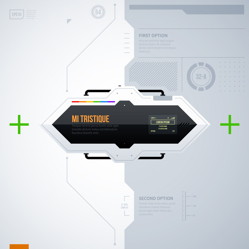 Hi-tech Vector Template. Eps10