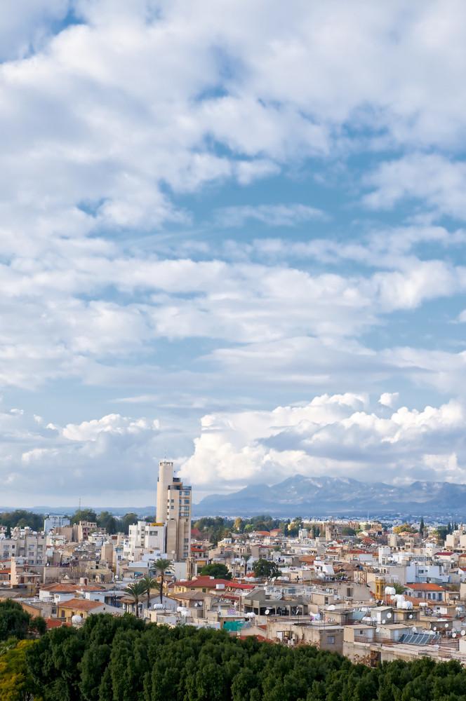 High Angle View At Nicosia City