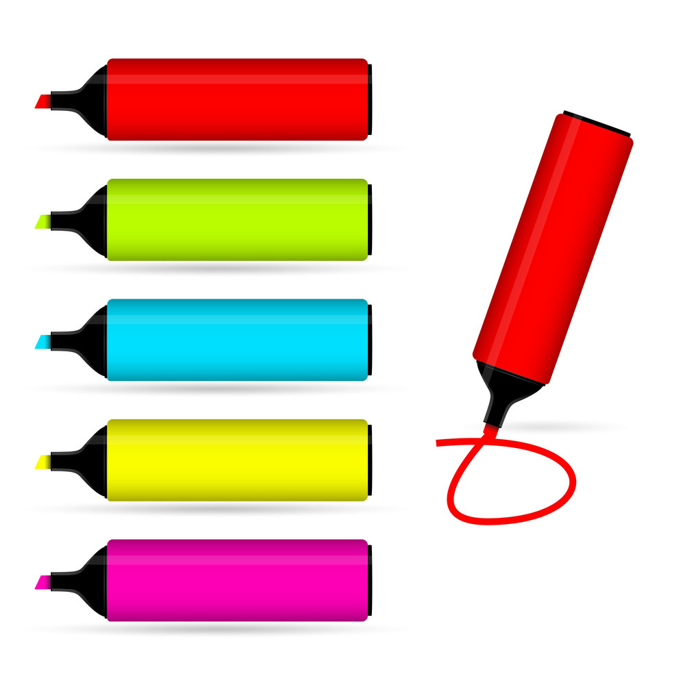 Highlighters Vector Elements