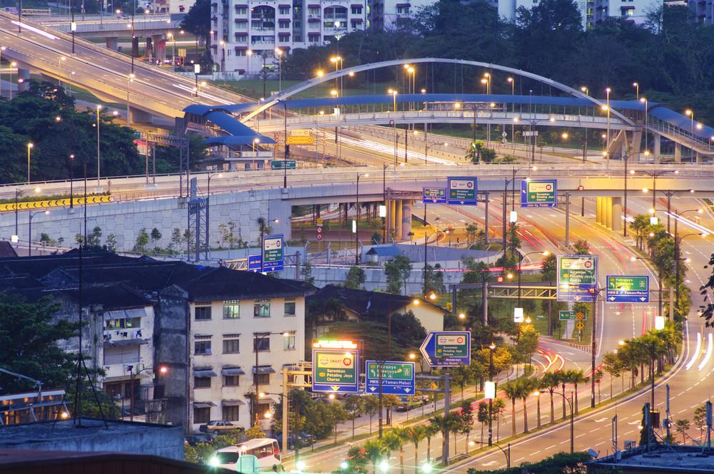 Highway Road on Kuala Lumpur