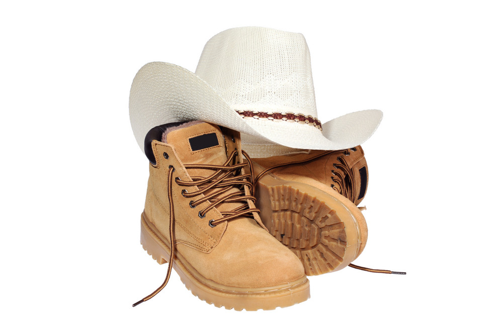 Hiking Boots And Hat