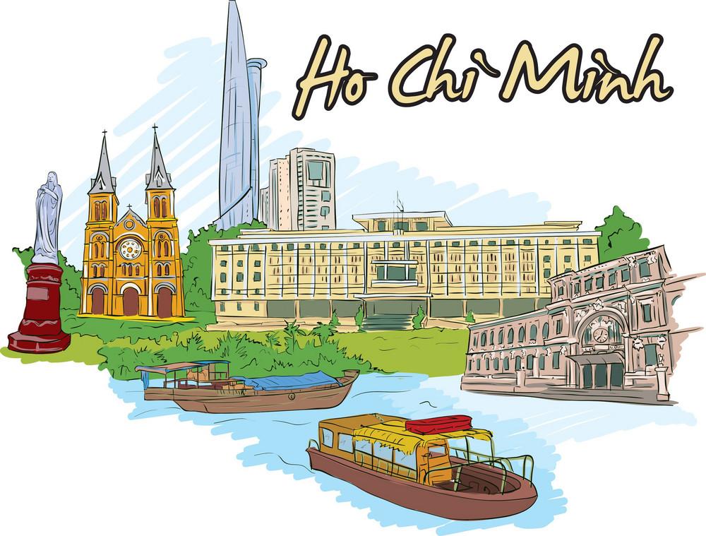 Ho Chi Minh Vector Doodle