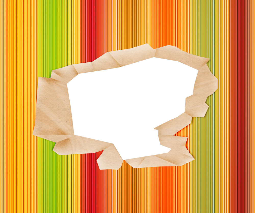 Hole In Colored Paper