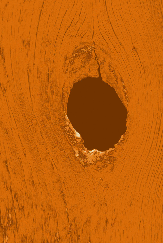 Hole In Wood Plank
