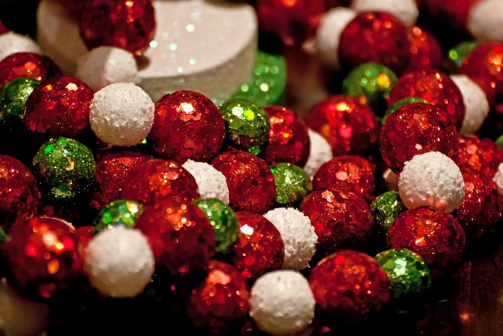 Holiday Decor Sparkle Balls