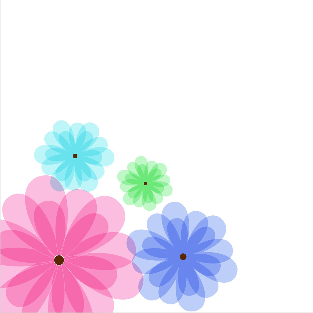 Holiday Flowers Background