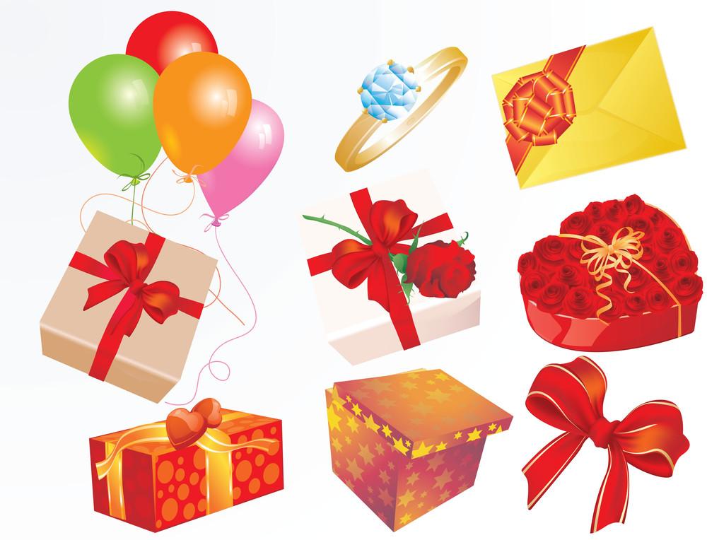 Holiday Gifts. Vector.