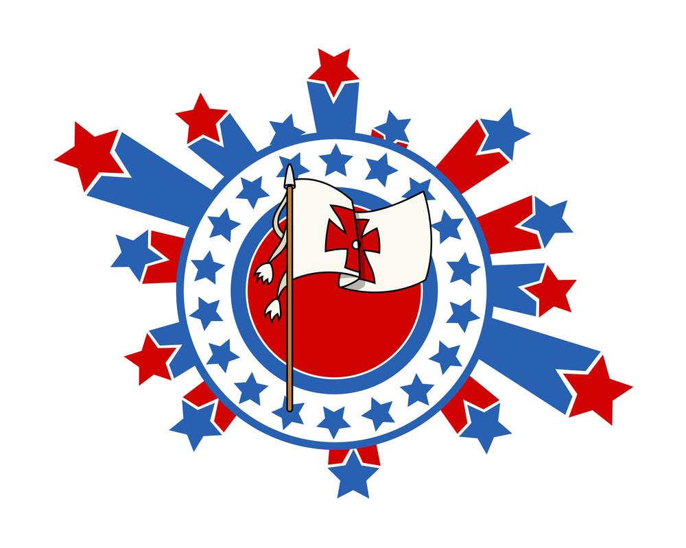 Holiday Graphic Retro Flag Background