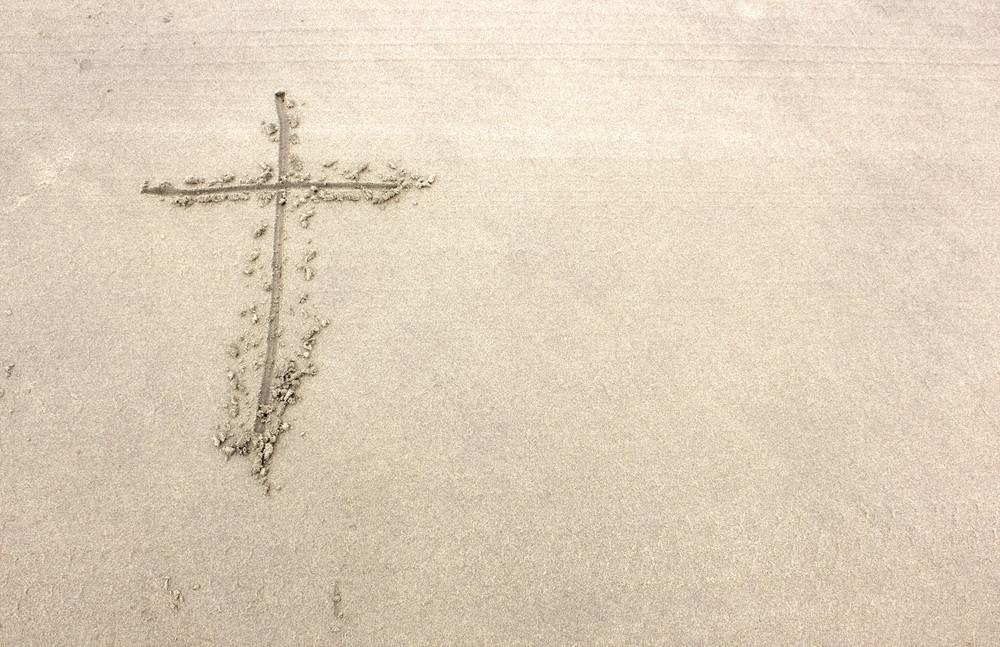 Holy Cross On Sand