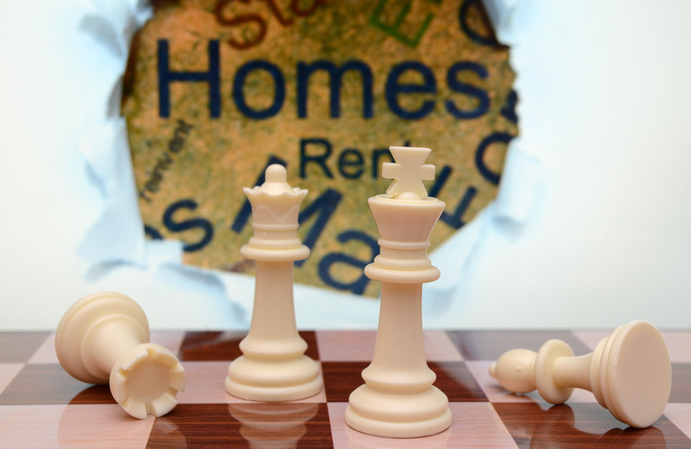 Home And Chess Concept