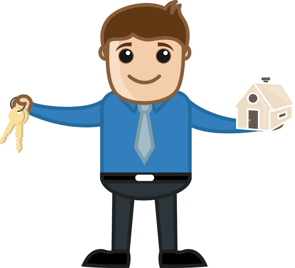 Home Loan - Real Estate Concept - Business Cartoon