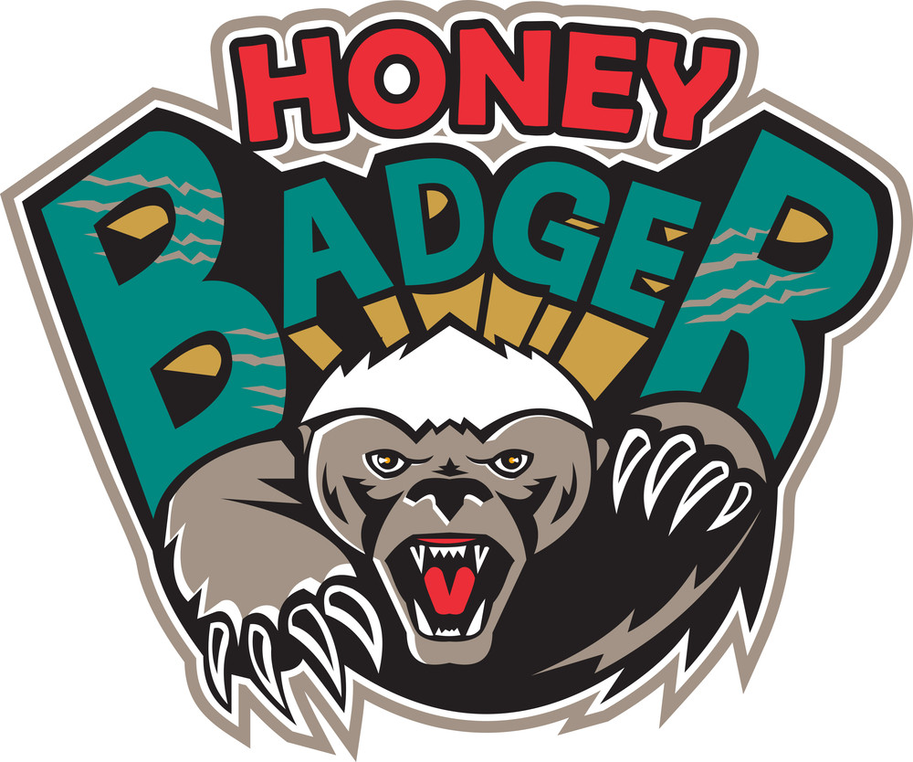 Honey Badger Mascot Front