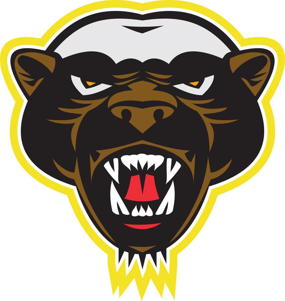 Honey Badger Mascot Head