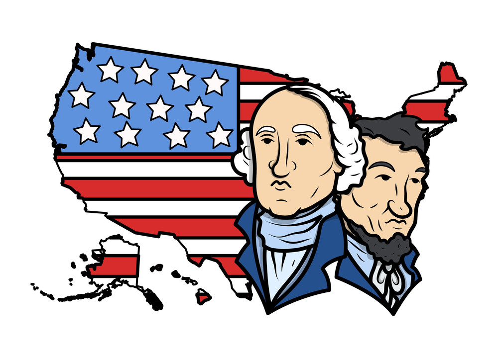 Honoring Our Presidents On Washington Birthday Vector