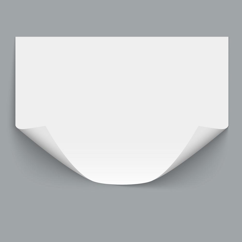 Horizontal Empty Paper Sheet