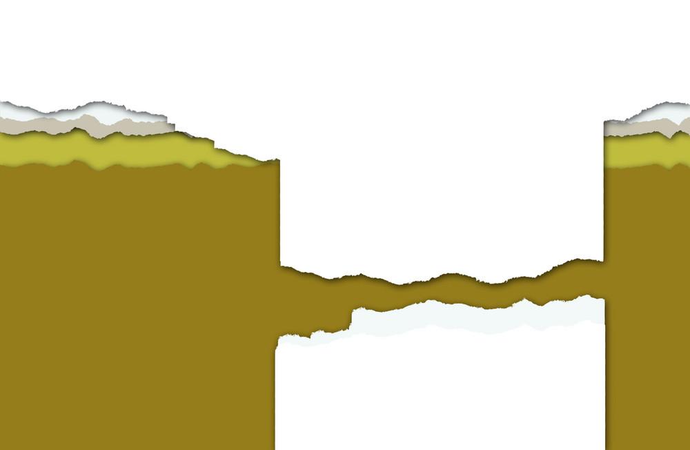 Horizontal Ripped Paper
