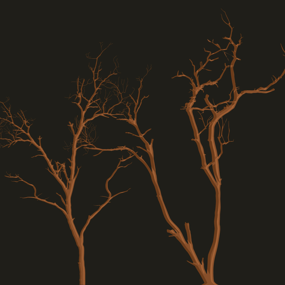 Horrible Halloween Dead Trees