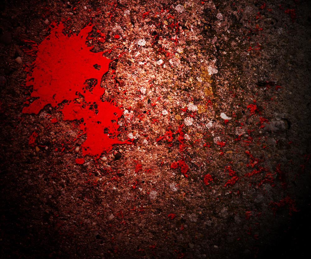 Horror Blood On Grunge Wall