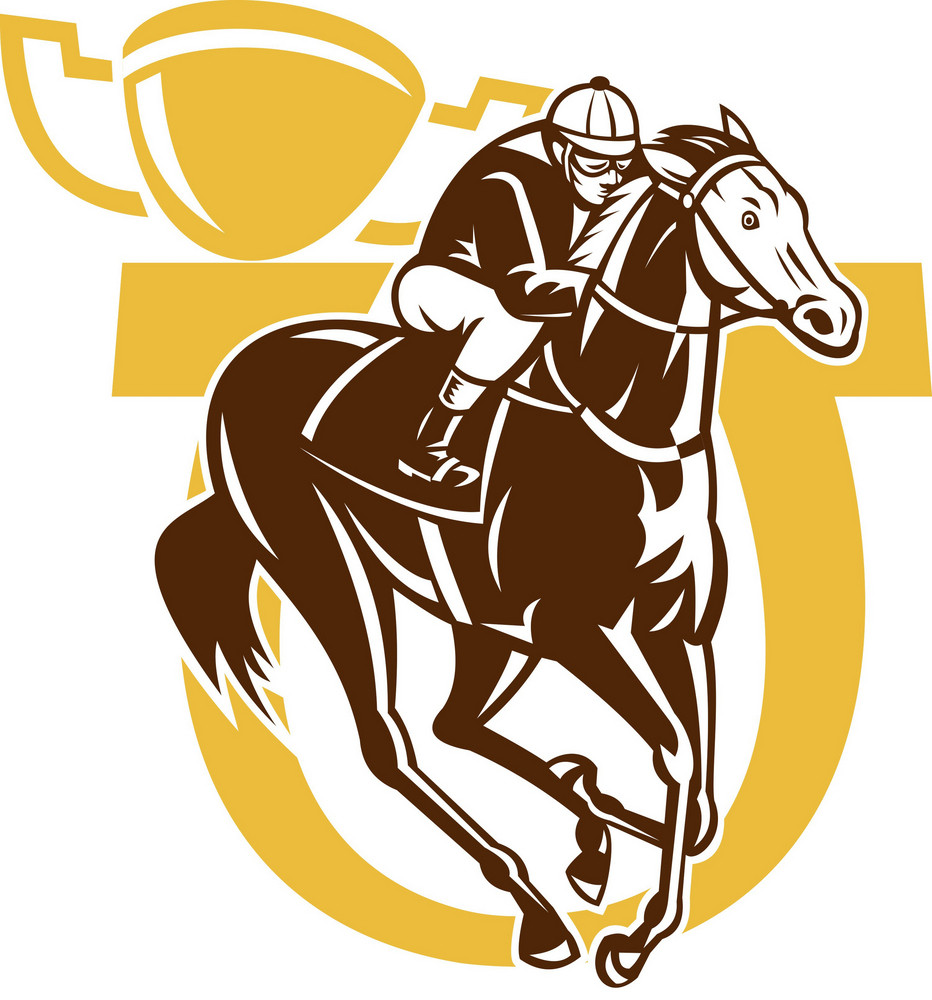 Horse Race Jockey Racing Horseshoe Cup
