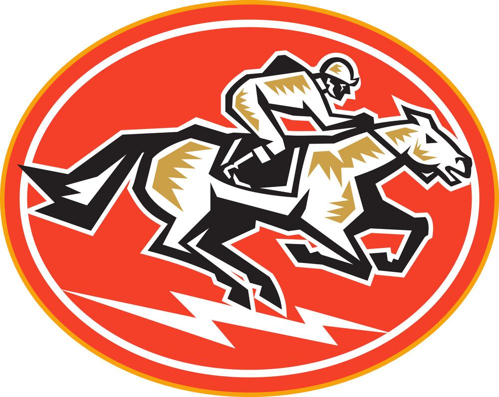 Horse Racing Side Retro