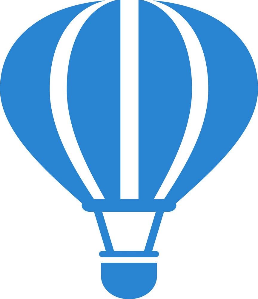 Hot Air Balloon Simplicity Icon