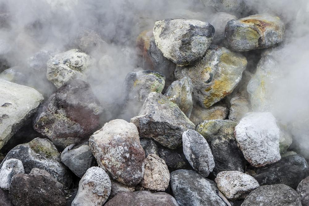 hot spring detail at Beppu, Japan