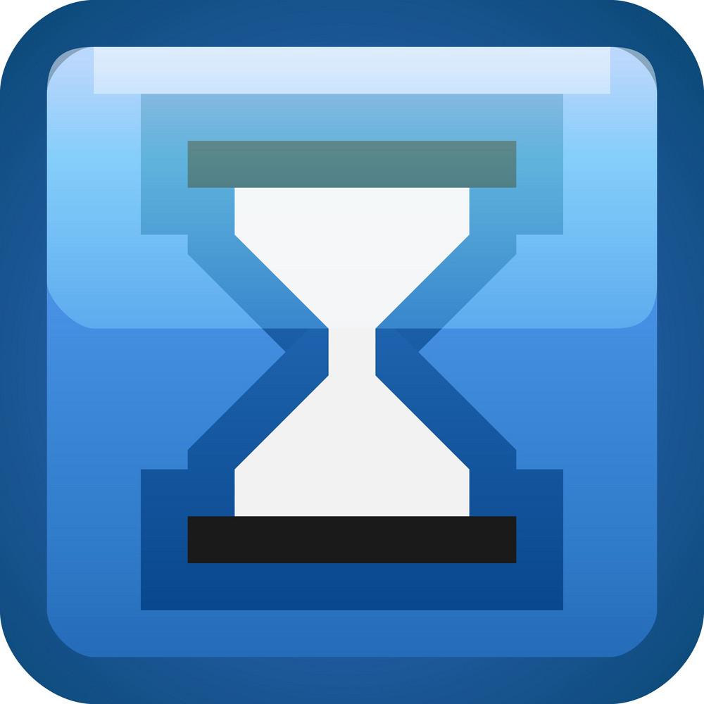 Hourglass Blue Tiny App Icon