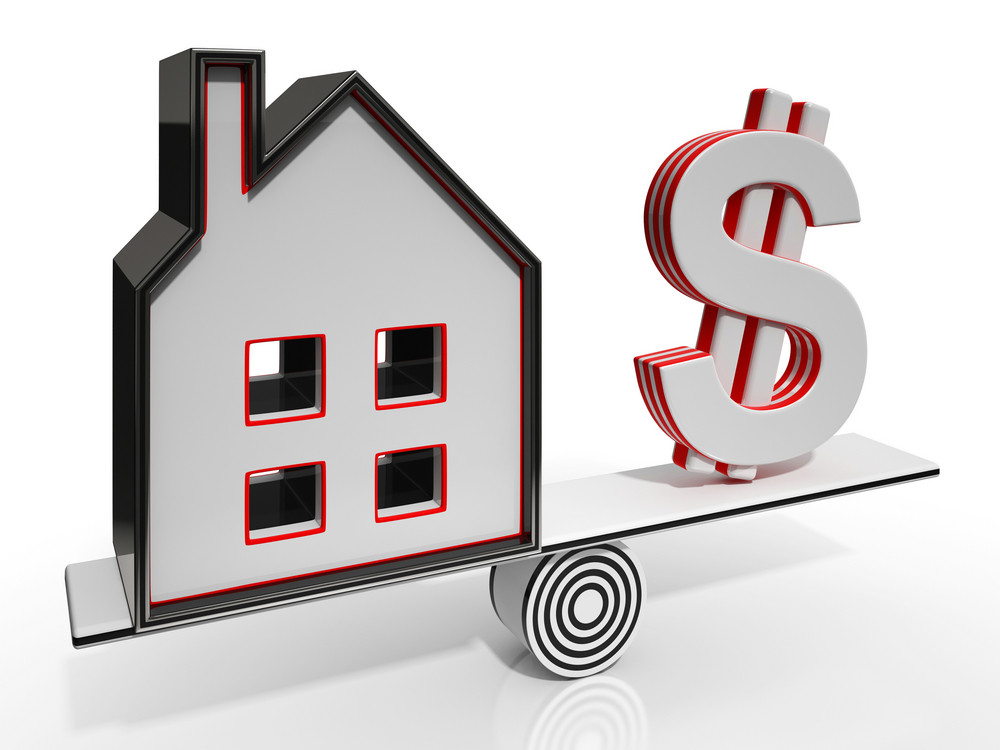 House And Dollar Balancing Showing Investment