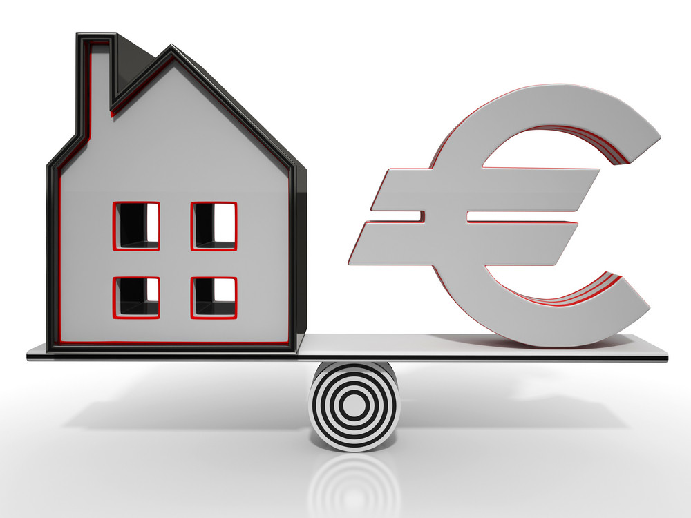 House And Euro Balancing Showing Investment