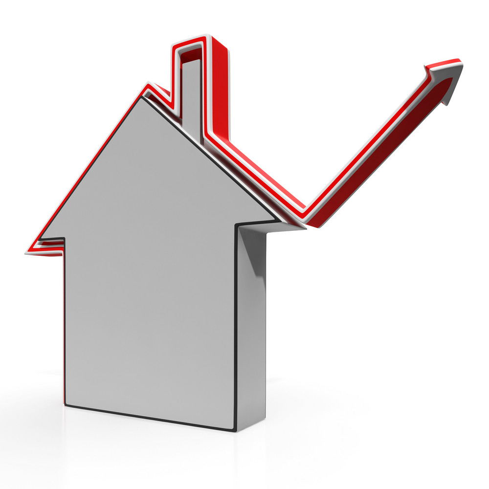 House Icon Shows Home Price Increases