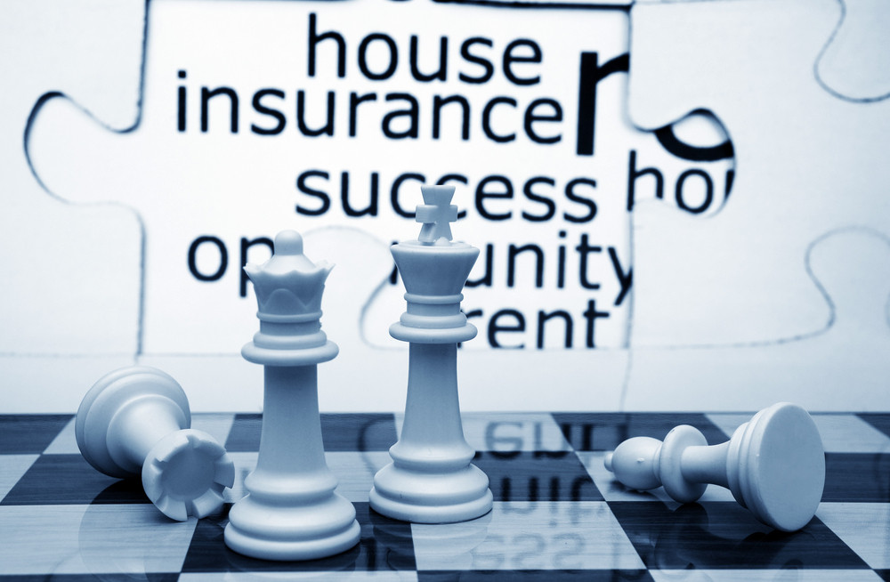 House Insurance And Chess Concept