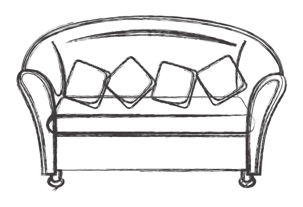 House Sofa Drawing