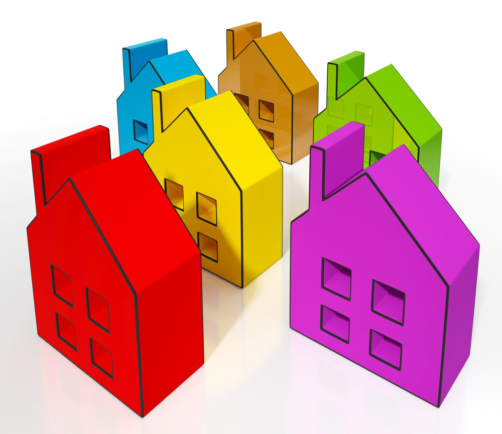 house symbols meaning houses for sale royalty free stock image