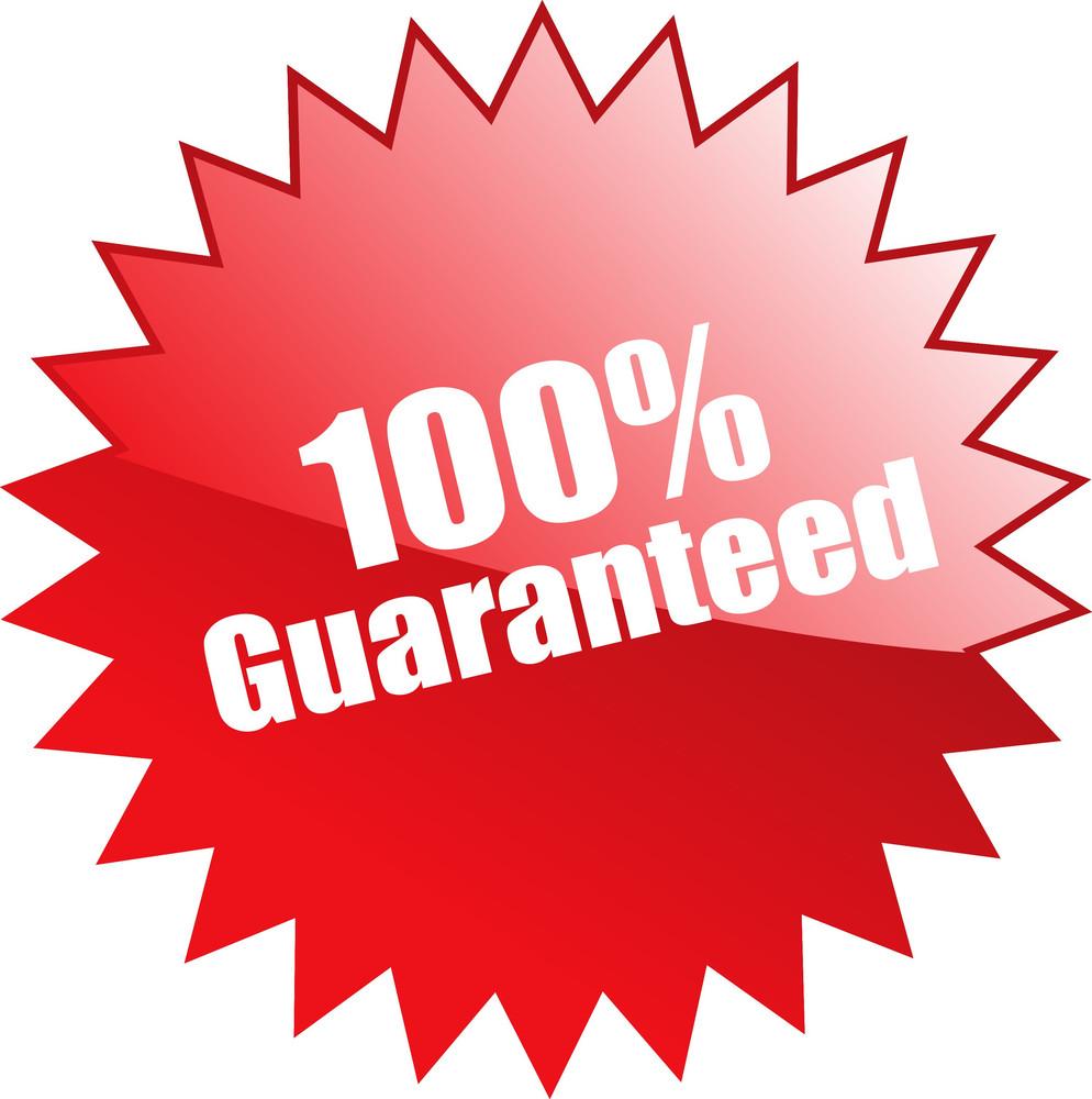 Hundred Percent Guaranteed Sticker