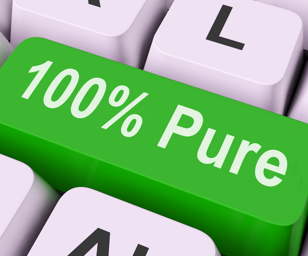 Hundred Percent Pure Key Means Absolute Uncorrupt