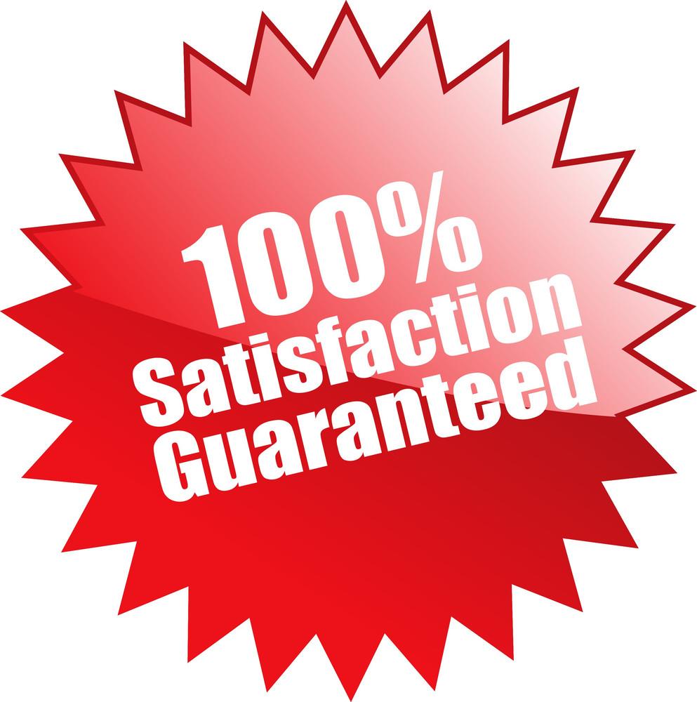 Hundred Percent Satisfaction Guaranteed Seal
