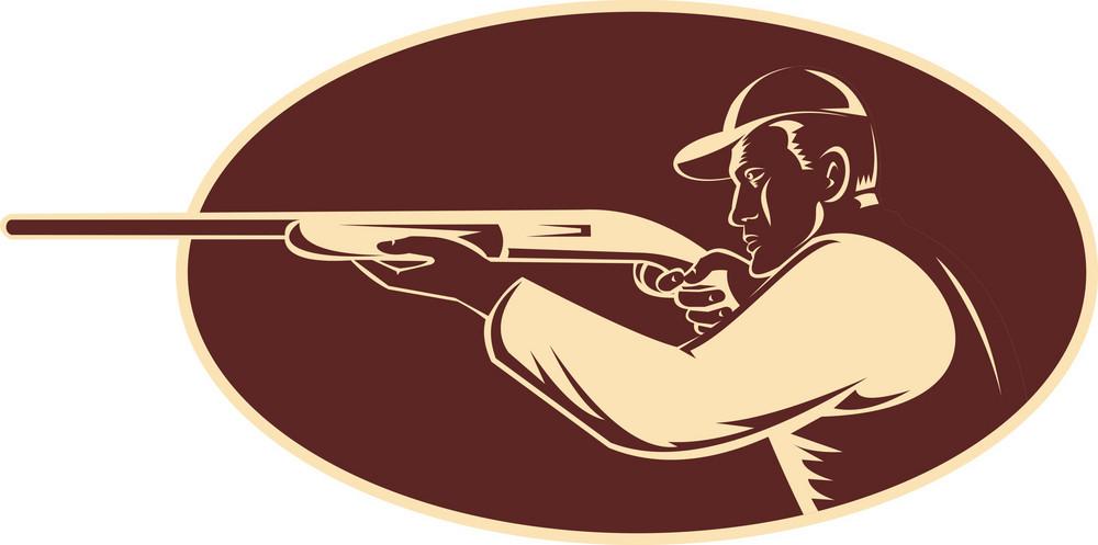 Hunter Shooting Aiming Shotgun Rifle