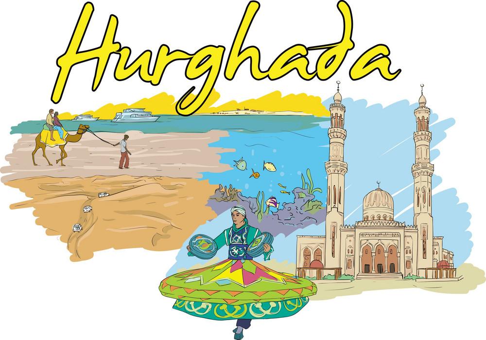 Hurghada Vector Doodle