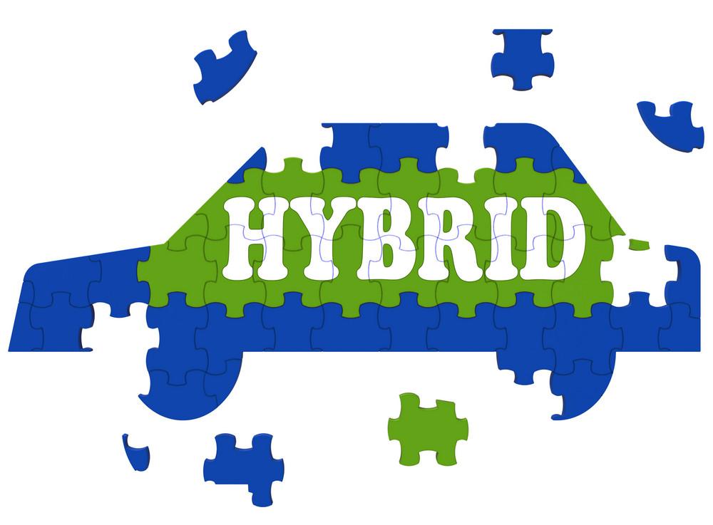 Hybrid Car Means Electric Eco-friendly Automobile